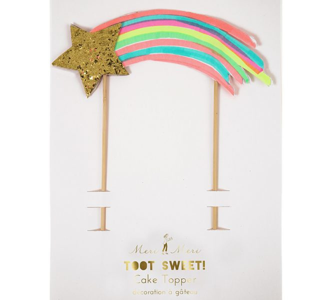 "Cake topper ""shooting star"""