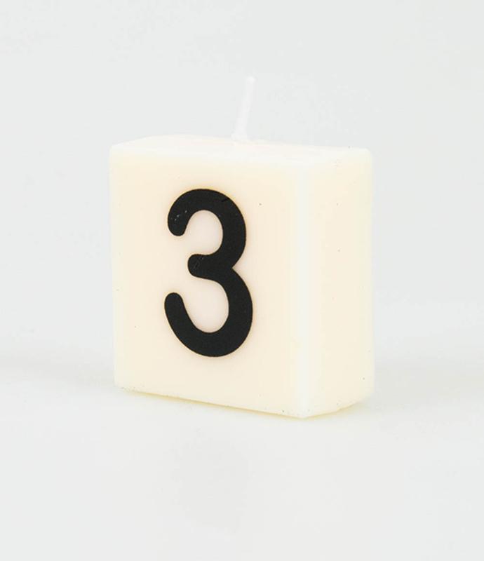 Letterkaars - 3 (cijfer)