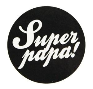 Super papa | 40 mm (zwart)