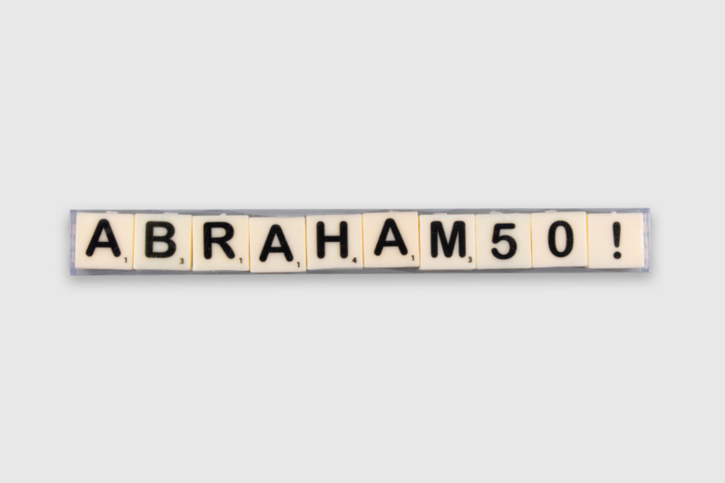 Letterkaarsjes in verpakking - Abraham 50