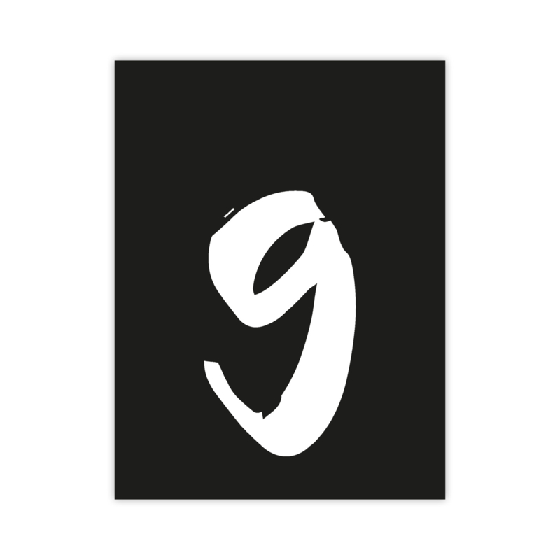 Letterslinger - cijfer 9