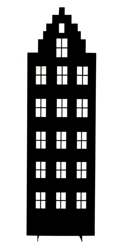 Huisje (trapgevel) 34 cm