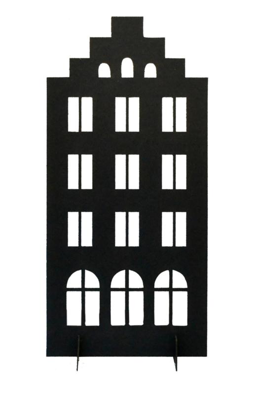 Huisje (trapgevel) 20 cm