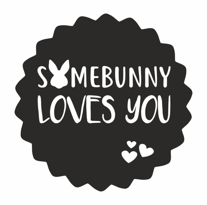 Sticker Somebunny loves you | 50 mm