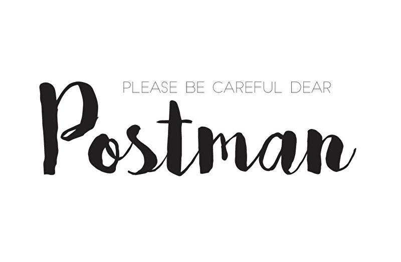 Please be careful dear postman   85x55mm