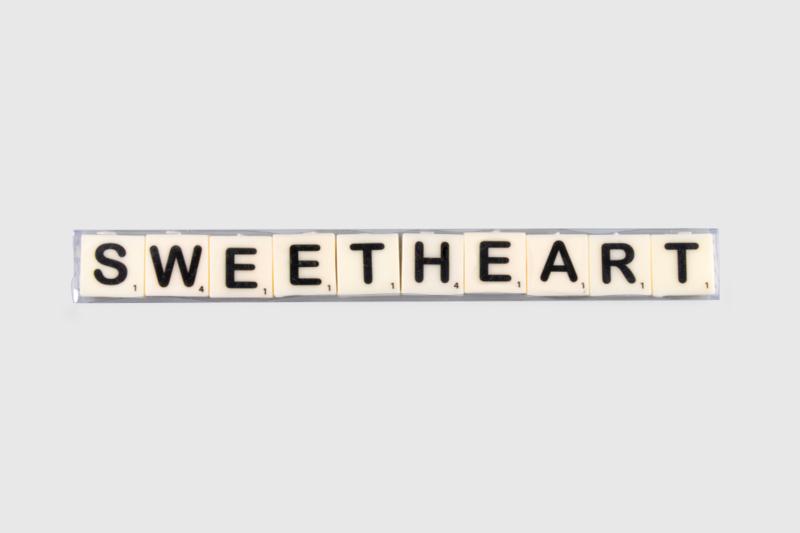 Letterkaarsjes in verpakking - Sweetheart
