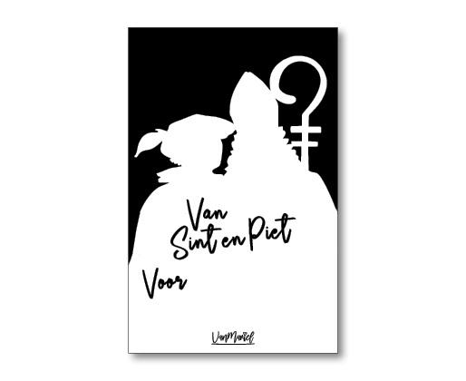 Kadokaart |  Van Sint en Piet voor (met staf)
