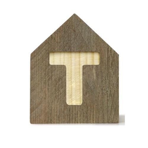 Letterhuisjes - Huisje T