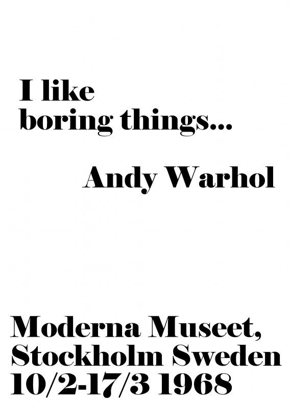 A6   I like boring things