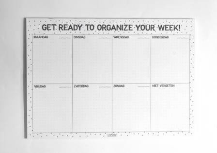 Organize your week A4