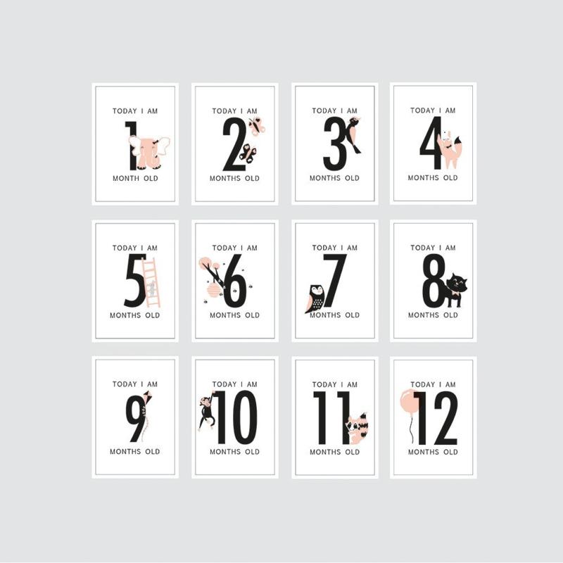 HOP - Milestone kaarten meisje