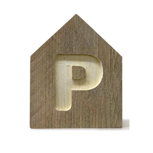 Letterhuisjes - Huisje P