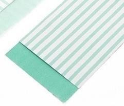 mint stripes 7 x 13 cm