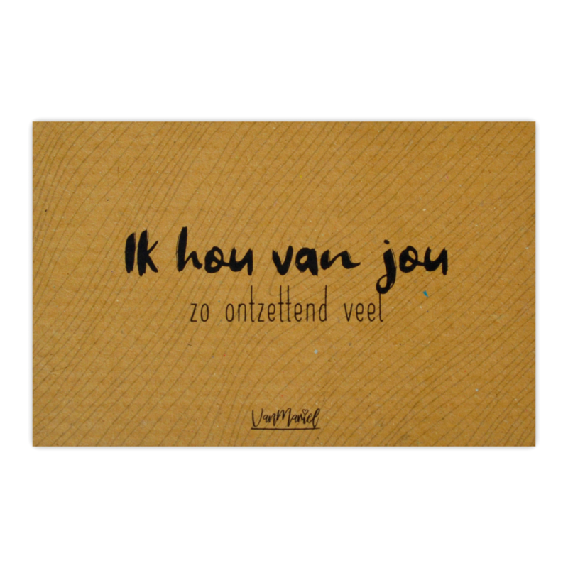 Kadokaart (kraft) | Ik hou van jou