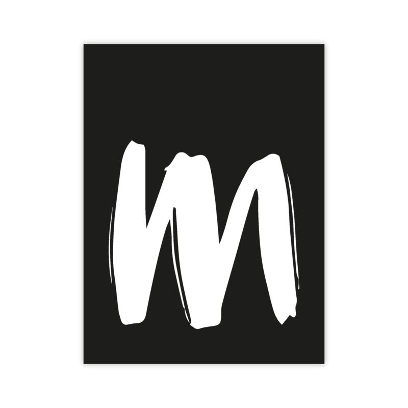 Letterslinger - letter M