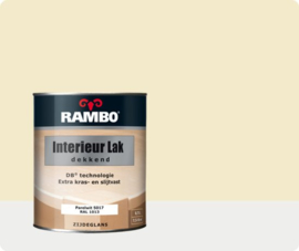 RAMBO INTERIEUR - VLOER LAK DEKKEND ZIJDEGLANS - Parelwit RAL 1013 - 0,75 liter
