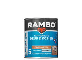 Rambo Pantserbeits Deur & Kozijn Transparant Zijdeglans - Teakhout 1204 - 750 ml