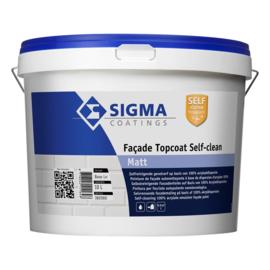 Sigma Facade Topcoat Self Clean Matt - wit - 10 liter