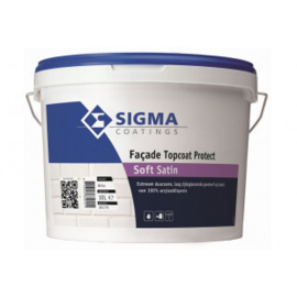 Sigma Facade Topcoat Protect Soft Satin - Wit - 10 liter