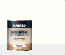 RAMBO INTERIEUR - VLOER LAK DEKKEND ZIJDEGLANS - Signaalwit RAL 9003 - 0,75 liter