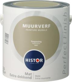 Histor Perfect Finish Muurverf Mat - toepassing 6967 - 2,5 Liter