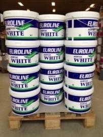 EUROLINE latex - binnen en buitenkwaliteit - 10 liter - WIT of lichte kleuren