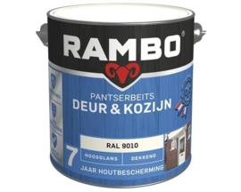 Rambo Pantserbeits Deur & Kozijn Hoogglans Dekkend - Kastanjebruin 1114 - 750 ml