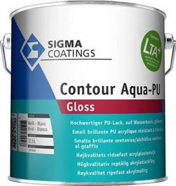 SIGMA Contour Aqua PU Gloss  - WIT  = vergelijkbaar met S2U NOVA Gloss wit -  2,5 liter