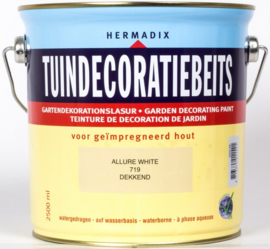 Hermadix Tuindecoratiebeits 719 Allure White - 2,5 liter
