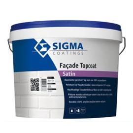 Sigma Facade Topcoat Satin - WIT -  10 liter