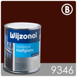 Wijzonol Dekkend Halfglans 9346 Bordeauxrood - 5 maal 750 ml