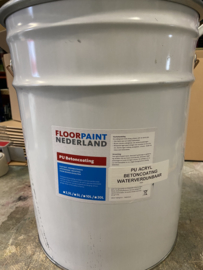 PU Acryl betoncoating Waterverdunbaar - GRIJS - 20 liter BINNEN en BUITEN