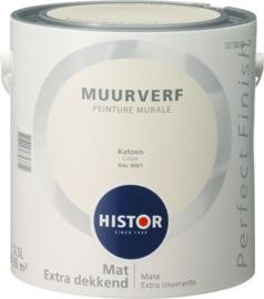 Histor Perfect Finish Muurverf Mat - Ral 9001 Katoen - 2,5 Liter