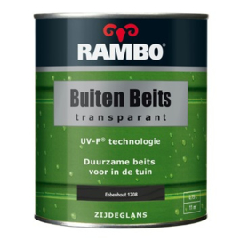 RAMBO Buitenbeits Transparant - Ebbenhout 1208 - 0,75 liter