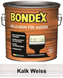 BONDEX Transparante beits voor buiten - zeer duurzaam 2,5 liter - Kalk wit - Kalk weiss
