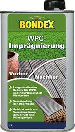 Bondex WPC Impragnierung - Impregneer voor terrassen - Farblos - kleurloos - 1 liter