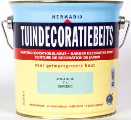 Hermadix Tuindecoratiebeits 714 Aqua Blue - 0.75 liter