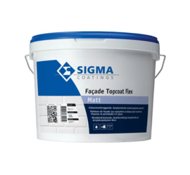 Sigma Facade Topcoat Flex Matt - Wit - 10 liter