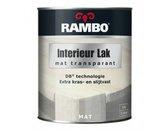 RAMBO INTERIEUR - VLOER LAK TRANSPARANT MAT - Antraciet grijs 774 - 0,75 liter