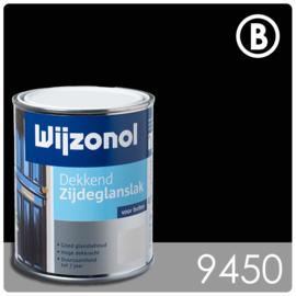 Wijzonol Dekkend Zijdeglanslak 9450 Zwart - 750 ml