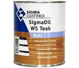 SigmaOil WS Teak Matt - 2,5 liter - Hardhout olie voor o.a. Tuinmeubelen