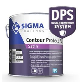 Sigma Contour Protect-PU Satin - Kras en slijtvast - WIT - 2,5 liter - is vergelijkbaar met Sigma S2U Satin