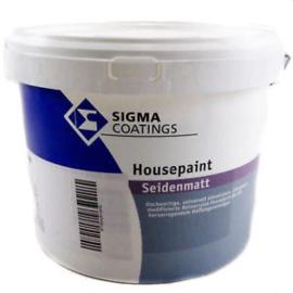 Sigma Housepaint Seidenmatt - WIT - 4 liter