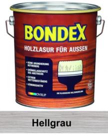 BONDEX Transparante beits voor buiten - zeer duurzaam 2,5 liter - Licht grijs - Hell grau
