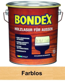 BONDEX Transparante beits voor buiten - zeer duurzaam 2,5 liter - Kleurloos - Farblos