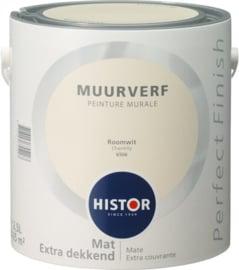 Histor Perfect Finish Muurverf Mat - Roomwit 6506 - 2,5 Liter