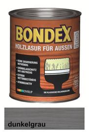 BONDEX Transparante beits voor buiten - zeer duurzaam 2,5 liter - Donker grijs - Sunkel grau