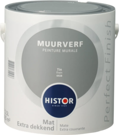 Histor Perfect Finish Muurverf Mat - Tin 6928 - 2,5 Liter