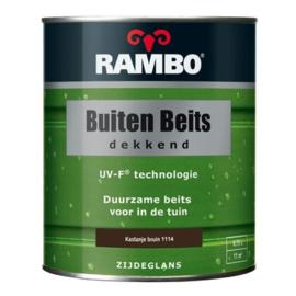 RAMBO Buitenbeits Dekkend - Kastanje Bruin 1114 - 0,75 liter