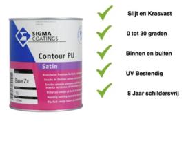 Sigma Contour PU Satin +/- RAL 9010 - 5 liter - Vergelijkbaar Sigma S2U Satin